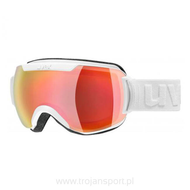 Gogle narciarskie Uvex Downhill 2000 Mirror White Red Mat 2019