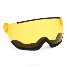 Szyba przyłbica zamienna do kasku Head Knight Visor Queen Sparelens Kit S1 Yellow