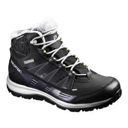 Buty Salomon Kaina CS WP 2 Black Asphalt Flashy 2018