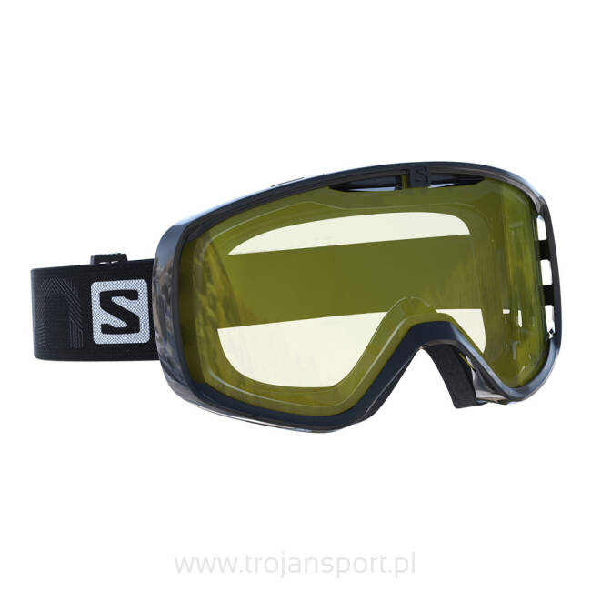 Gogle narciarskie Salomon Aksium Access Black/Light Yellow S1 2019