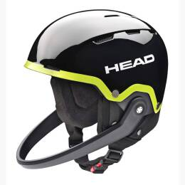 Kask Head Team Sl + Chinguard Black/Lime 2018