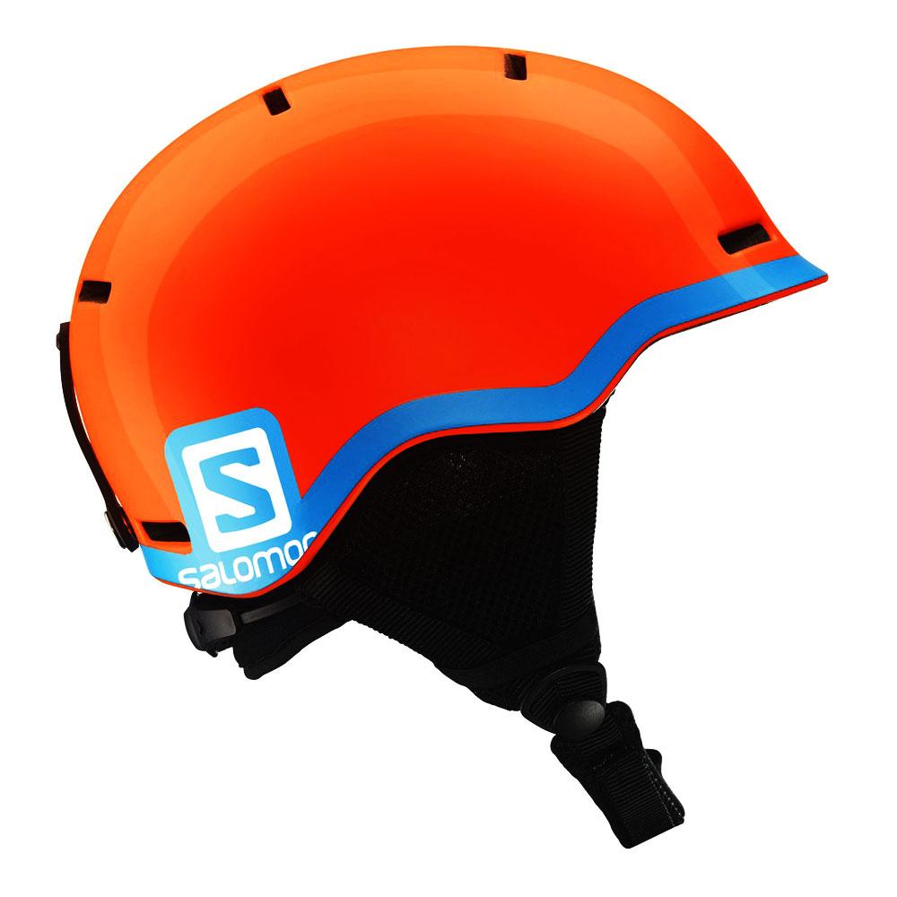 Kask narciarski dziecięcy Salomon Grom Jr Fluo Orange Blue