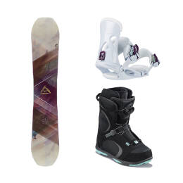 Zestaw Snowboardowy Head Shine + Galore Pro Boa Black + NX Fay I White 2019